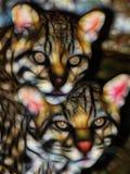 Arte della parete di media misti di Jaguar Immagine Stock