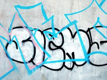 Arte della parete graffiti fotografia stock