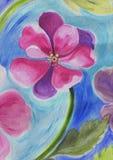 Arte della pittura del fiore dell'acquerello Immagini Stock