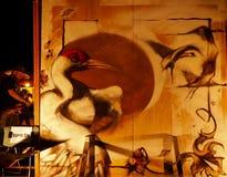 Arte della pittura di spruzzo della tela Immagine Stock