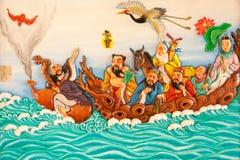 Arte della pittura di stile cinese Immagine Stock Libera da Diritti