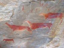 Arte della roccia Fotografia Stock