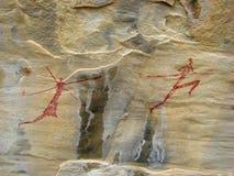 Arte della roccia Immagini Stock Libere da Diritti