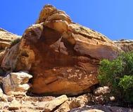 Arte della roccia del Ute fotografie stock libere da diritti