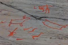 Arte della roccia di Alta Fotografie Stock Libere da Diritti