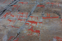 Arte della roccia di Alta Fotografia Stock Libera da Diritti