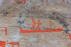 Arte della roccia di Alta Fotografia Stock