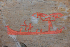 Arte della roccia di Alta Immagini Stock Libere da Diritti