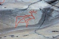 Arte della roccia di Alta Immagine Stock Libera da Diritti
