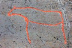 Arte della roccia di Alta Fotografie Stock