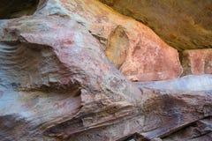 Arte della roccia di San in montagne Sudafrica di Cederberg Fotografie Stock