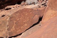 Arte della roccia di San in Namibia Fotografia Stock Libera da Diritti