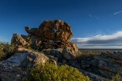 Arte della roccia nella montagna del cedro Fotografie Stock