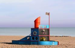 Arte della spiaggia Fotografia Stock Libera da Diritti