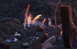 Arte della spiaggia Fotografia Stock