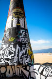 Arte della spiaggia di Venezia Fotografie Stock