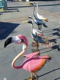 Arte della statua dell'uccello al mercato 4k Fotografia Stock