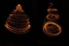 Arte della stella filante dell'albero di Natale Fotografie Stock