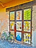 ARTE della via della bicicletta fotografie stock libere da diritti