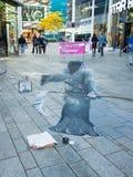 Arte della via che mostra illusione ottica Immagine Stock