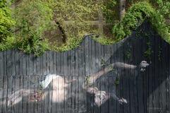 Arte della via da un artista sconosciuto Fotografia Stock
