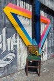 Arte della via da un artista sconosciuto in Collingwood, Melbourne fotografia stock libera da diritti