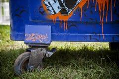 Arte della via dei graffiti di Europa Budapest Ungheria Fotografia Stock