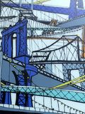 Arte della via dei ponti di New York Immagini Stock