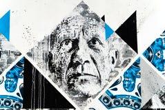 Arte della via del fronte del ` s dell'uomo anziano Fotografia Stock Libera da Diritti