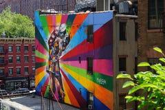 Arte della via di Kobra in Chelsea Fotografie Stock