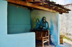 Arte della via di Malioboro Fotografia Stock