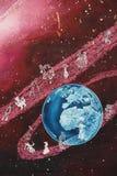 Arte della via di principe minuto dal san-Exupery dipinto su una parete Fotografia Stock Libera da Diritti