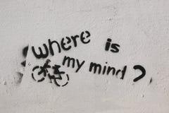 Arte della via - dove è la mia mente? immagine stock libera da diritti