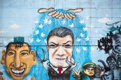 Arte della via e dei graffiti a Bogota Fotografia Stock