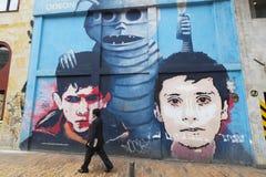Arte della via e dei graffiti a Bogota Fotografie Stock