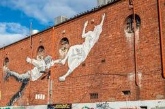Arte della via in Footscray, Australia Immagini Stock Libere da Diritti