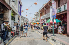 Arte della via a Georgetown, Penang immagine stock libera da diritti