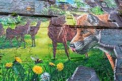 Arte della via a Glasgow, Regno Unito Fotografie Stock