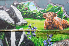 Arte della via a Glasgow, Regno Unito Fotografie Stock Libere da Diritti