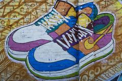Arte della via le calzature Immagini Stock