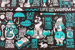 Arte della via a Londra, Regno Unito Fotografie Stock