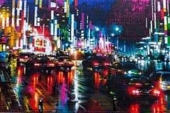 Arte della via a Londra, Regno Unito Fotografia Stock