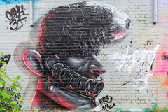 Arte della via a Londra, UKr Fotografia Stock Libera da Diritti