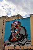 Arte della via a Mosca fotografia stock libera da diritti