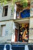 Arte della via, murales in Uzupis Immagine Stock Libera da Diritti