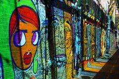 Arte della via nella città di Boston immagine stock