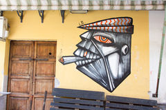 Arte della via a Palermo, Italia Immagini Stock
