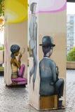 Arte della via a Parigi, Francia Fotografie Stock Libere da Diritti