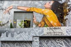 Arte della via a Parigi, Francia Fotografie Stock