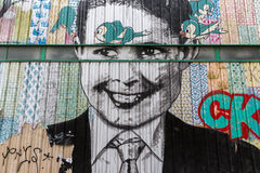 Arte della via a Parigi, Francia Fotografia Stock Libera da Diritti